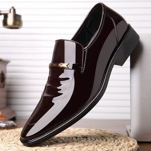 New Business Dress Shoes For Classic Leather Slip Pointed Toe
