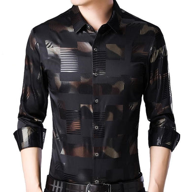 Men Brand Luxury Plaid Shirt