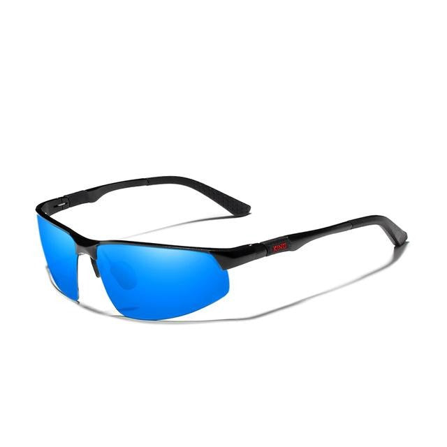 Men Aluminum Sunglasses Blue Mirror