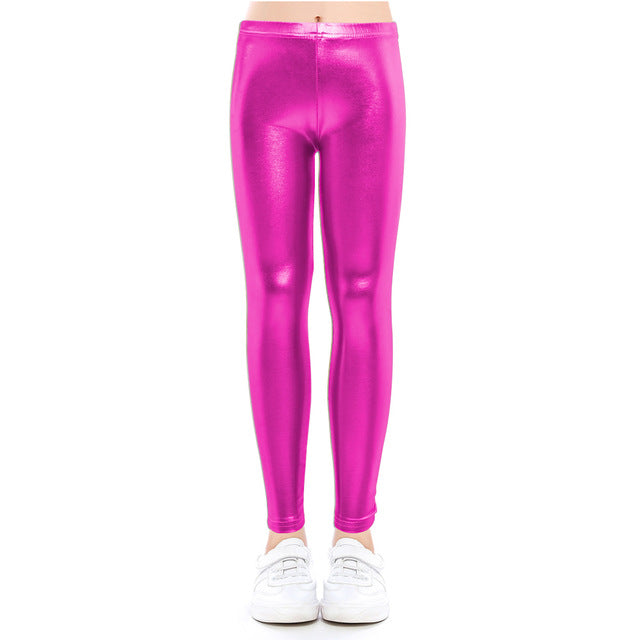 Baby pants for girls Kids Leggings Children's pencil pants Trousers Faux PU Leather Legging Slim trousers 3-9 years
