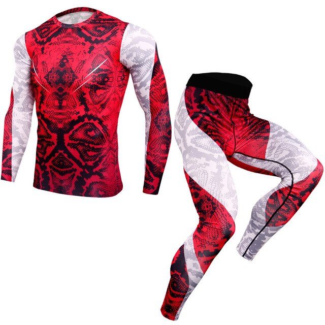 Men Long Sleeve Gym Fitness Tracksuit