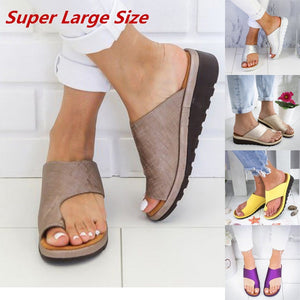 PU Leather Flat Sole Sandals