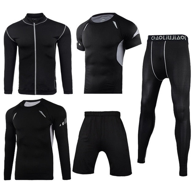Men Sportswear Compression Sport Suits Quick Dry Running Sets Clothes Sports Joggers Training Gym Fitness Tracksuits Running Set