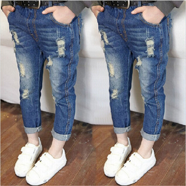Summer Tide Casual Elastic Waist Denim