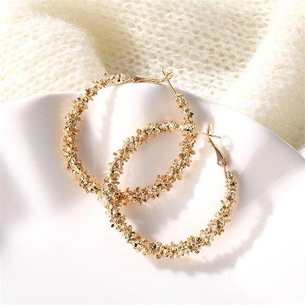 2020 New Big Circle Round Hoop Earrings for Women