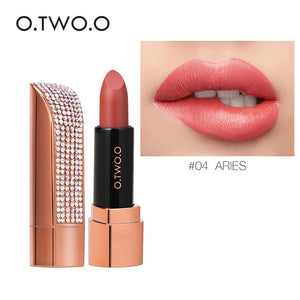 O.TWO.O Twelve Constellation Lipstick  Waterproof Pigment Lips Makeup Semi Velvet Lightweight Lip Stick Cosmetic