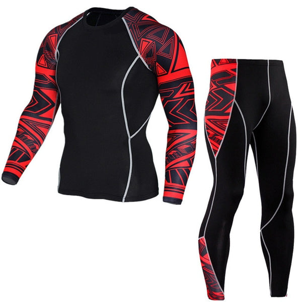 Men Running Sports Compression Suit