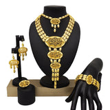 Mirafeel Dubai Jewelry Sets Big Necklace Classic moon Shape African Women Wedding Jewelry Sets for Bride