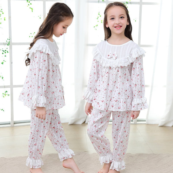 Autumn sleepwear Kids Pajama Sets