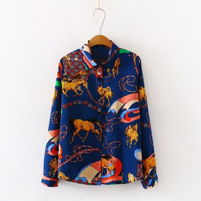 Women's Chiffon Blouses long sleeve Casual