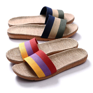 Summer Flax Slippers