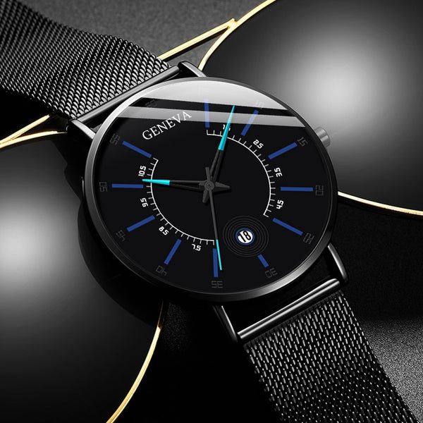 2020 New Fashion Luxury Ultra Thin Stainless Steel Business Watch