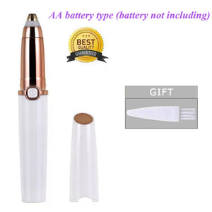 Women, Eyebrows Hair Removal Electric Trimmer Razor Battery Operated for Smooth Finishing and Painless