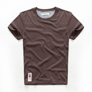 New Short Sleeve Solid T-shirt For Men