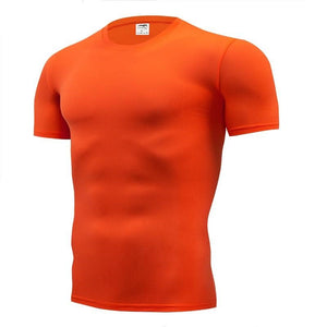Men Tight Pure Color T-shirt