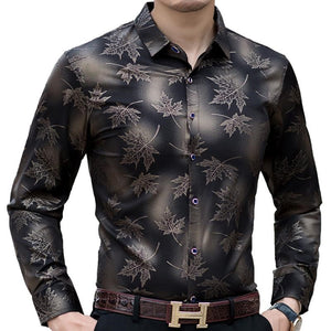 Men Fit Maple Leaf shirt