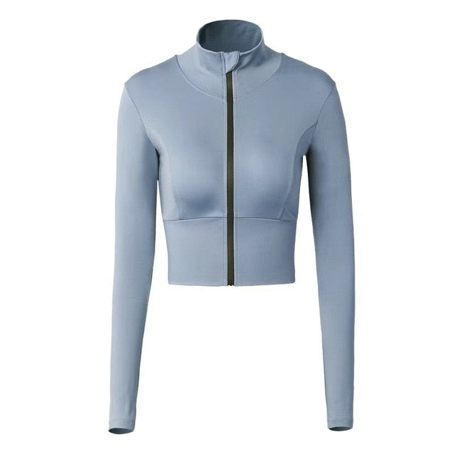Long Sleeve Training Zipper Sports Shirt