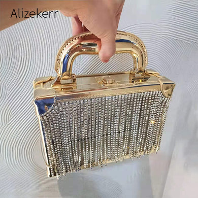 Diamonds Tassel Clear Box Handbag