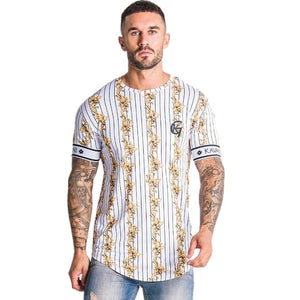 Brand Casual Stripe Summer Men's T-shirt