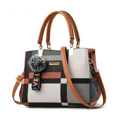 Casual Plaid Shoulder Bag For Ladies