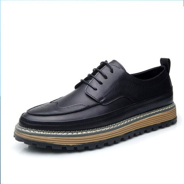 Lace-Up Loafer Office Shoes