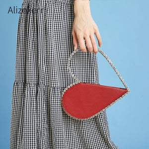 Diamond Red Heart Evening Clutch Bags