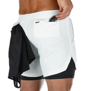 Men Double-deck Jogging Shorts