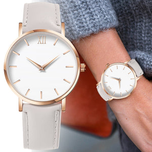 Ladies Casual Leather Quartz Watch