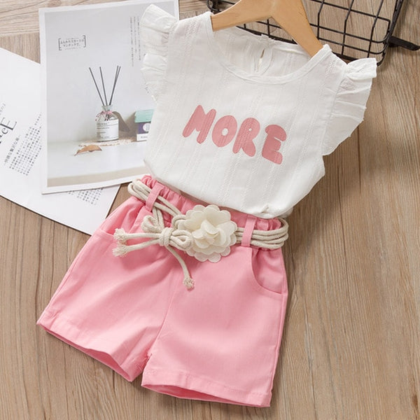 Girls Summer T-Shirt and Short