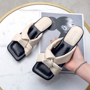 Square Toe Women Slippers