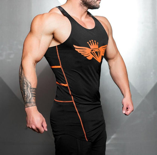 Bodybuilding loose cotton tank tops