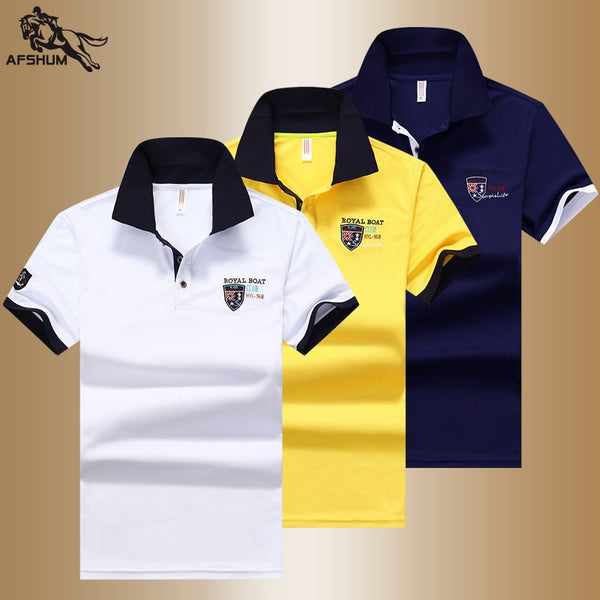Summer new men polo shirt