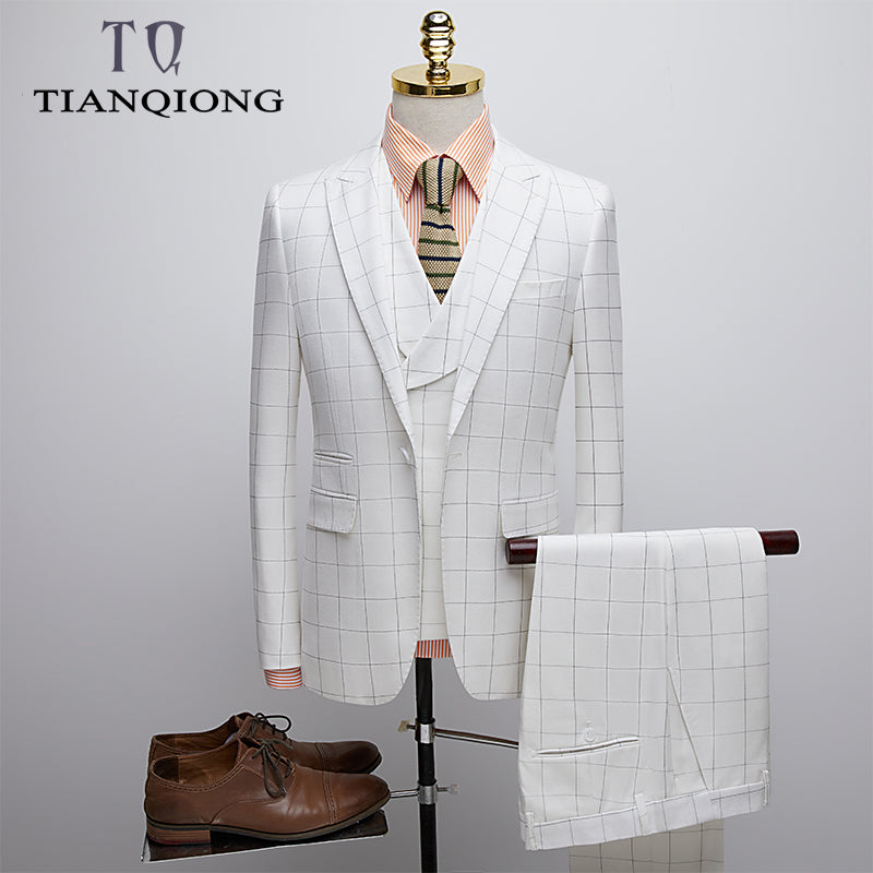 Men Wedding 3 Sets Suits