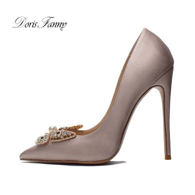 Women's Pointed Toe Shoes sexy Thin high Heels Pumps Roes Gold