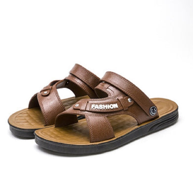 Men Sandals Summer Leather Plus Size
