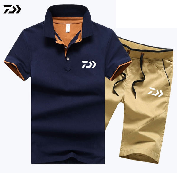 Men Summer Sportswear 2 Piece Set Outdoor
