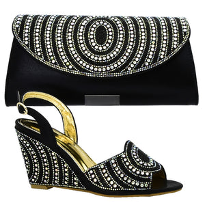 Women Italian Shoes and Bags Matching Set