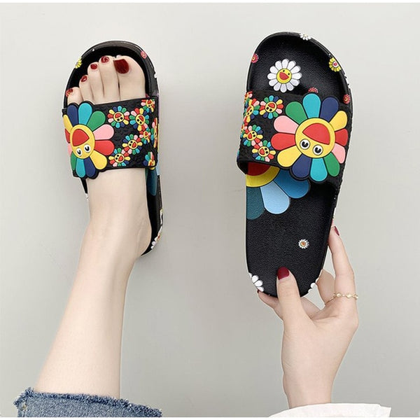 Cute flower Flat Flip Flops Slippers