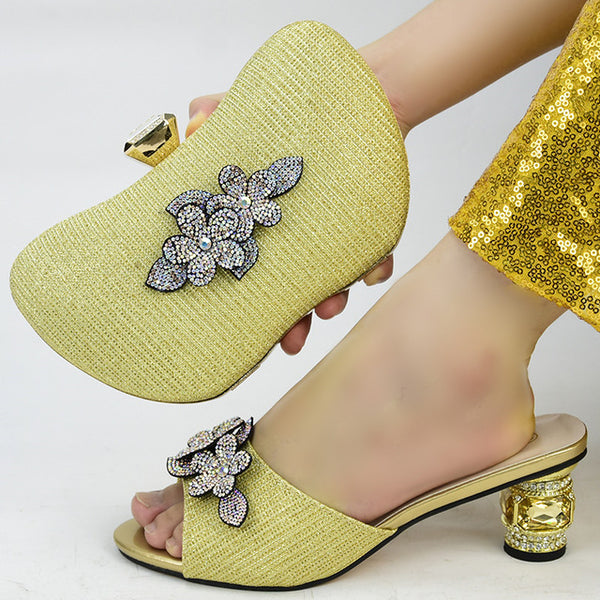 Women Shoes and Bag Matching Set High Heels