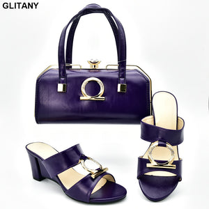 Women High Heel Matching Shoes and Bag Set