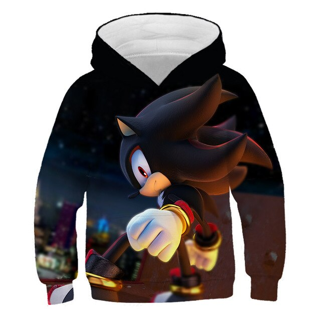 family Anime Super Sonic 3d Hoodies Children Pullover Cartoon Sweatshirt boys and girls hoodies 2020 hot sale sonic