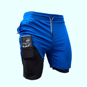 Men 2 in 1 Training Gym Shorts
