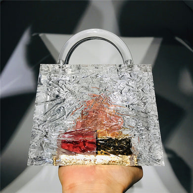 Clear Acrylic Box Evening Bag
