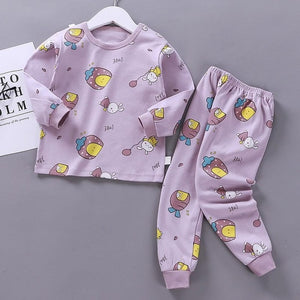 Children Cotton Blend Pajamas Suit