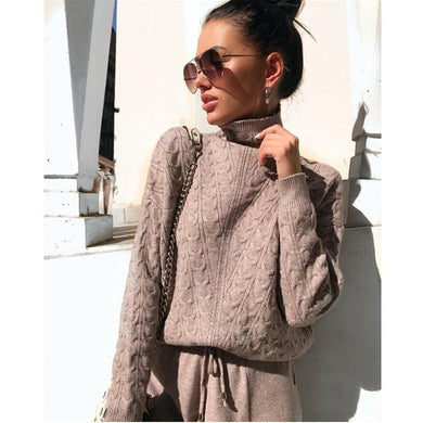 Autumn Women's Knitted Tracksuit