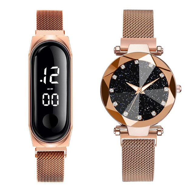 Luxury Magnet Buckle Wrist Watch
