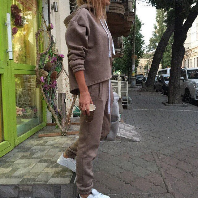 Women 2 Piece Pullover SweatSuits