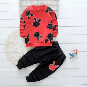 Letter Pattern Kids Long Sleeve Suits