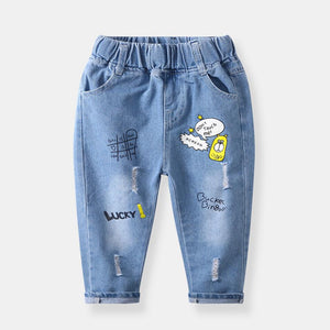 Boys Hole Jeans Fashion Denim