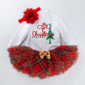 My 1st Christmas Party Baby Girls Outfits